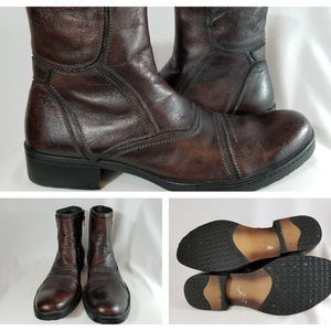 Other - Brown Leather Round Toe Boot Chelsea High Top